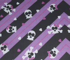 Purple Skelly-riffic Print