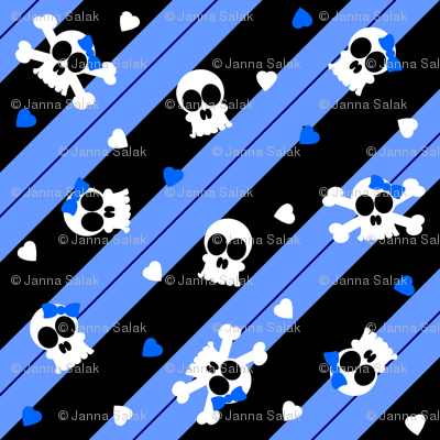 Blue Skelly-riffic Print