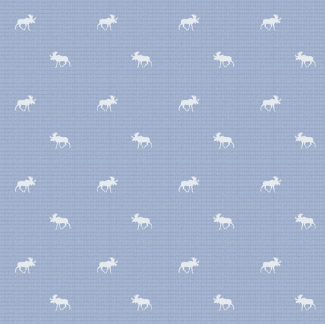 denim moose ©2015 fabric by palmrowprints on Spoonflower - custom fabric