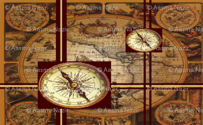 map of antique world