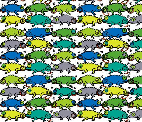 chameleons fabric by kimthings on Spoonflower - custom fabric