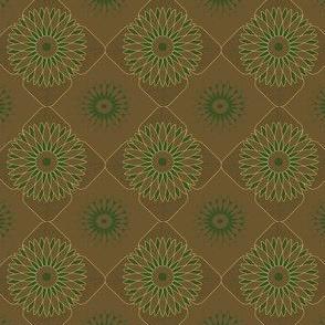 brown flower pattern