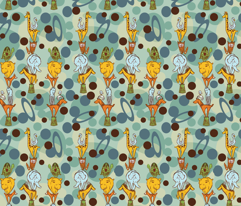 BABY BOY- LIL' STACKS fabric by gsonge on Spoonflower - custom fabric