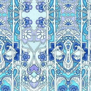 Love is an Art Nouveau Thing (blue)