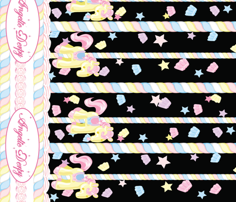 Lovely Horse Derpy-chan: Derpy Carnival fabric by gabi-hime on Spoonflower - custom fabric