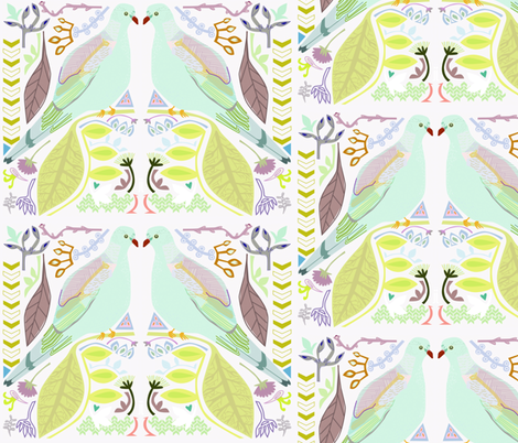 love doves fabric by junej on Spoonflower - custom fabric