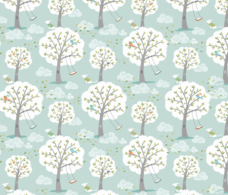 Windy Day fabric by pattysloniger on Spoonflower - custom fabric