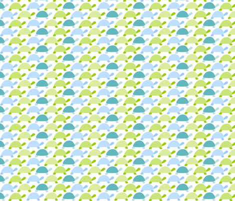 Blue Turtle Rosa Pomposa fabric by rosapomposa on Spoonflower - custom fabric
