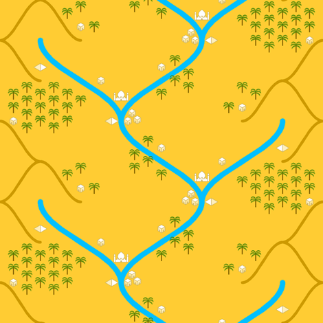 sine river - eastern desert fabric by sef on Spoonflower - custom fabric