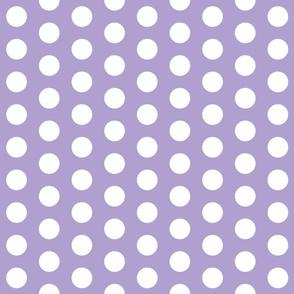 Lavender with White Polk A Dot