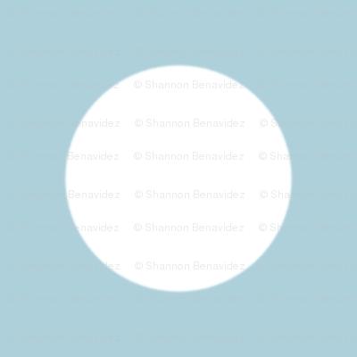 Light Blue with White Polk A Dot
