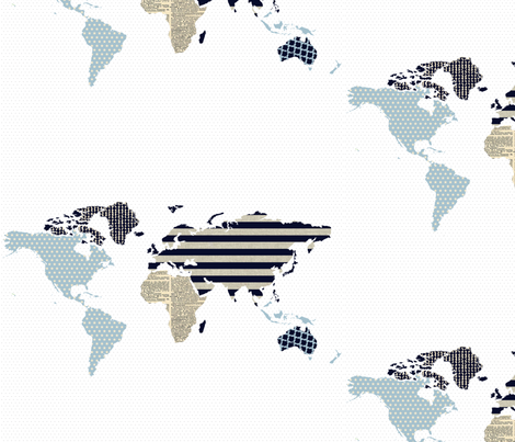 going global fabric by armommy on Spoonflower - custom fabric