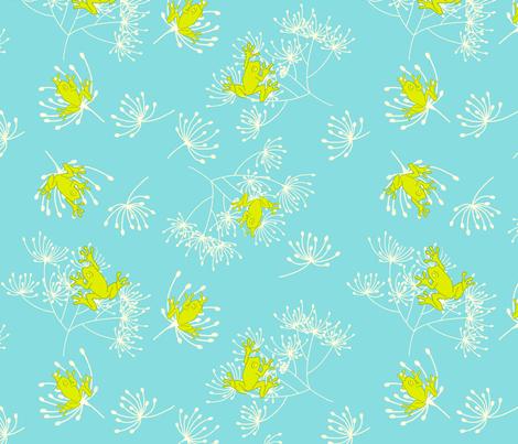 frogs for little boys fabric by findevogel on Spoonflower - custom fabric