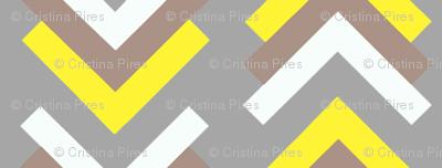 boomerang grey tan yellow