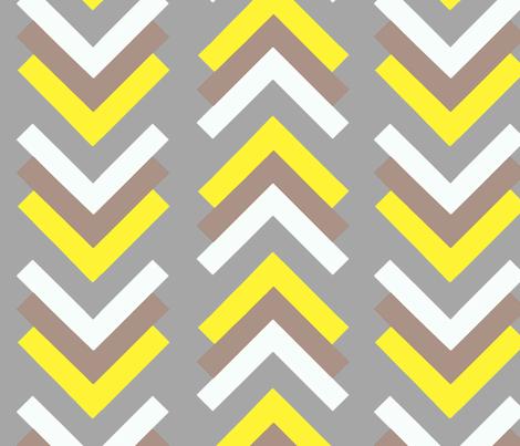 boomerang grey tan yellow fabric by cristinapires on Spoonflower - custom fabric