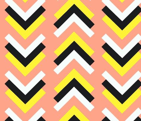 boomerang pink yellow black fabric by cristinapires on Spoonflower - custom fabric
