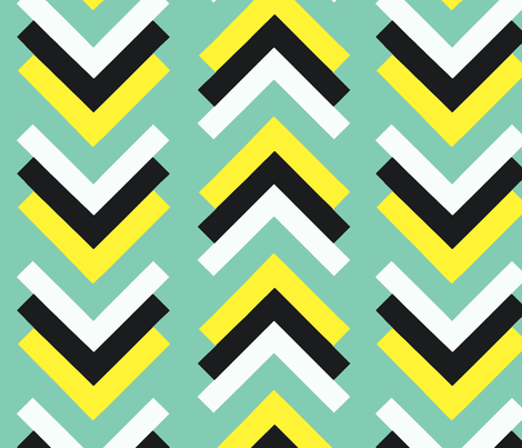 boomerang aqua blue yellow black fabric by cristinapires on Spoonflower - custom fabric