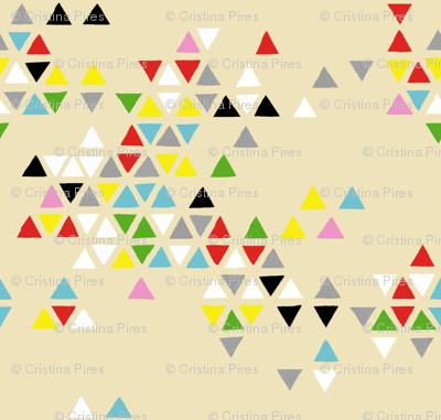 triangle clouds multi-color