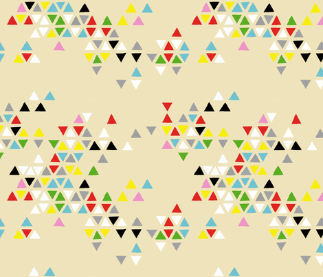 triangle clouds multi-color fabric by cristinapires on Spoonflower - custom fabric