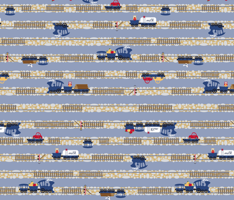 Choo Choo Stripes fabric by annosch on Spoonflower - custom fabric