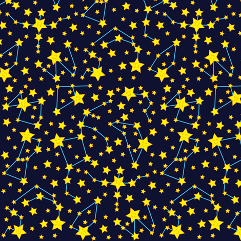 Star Map (Dark) fabric by robyriker on Spoonflower - custom fabric