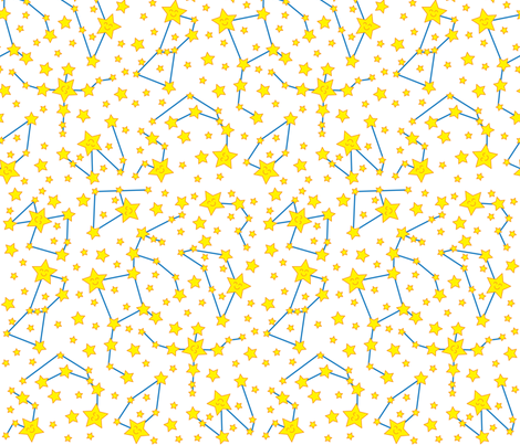 Star Map (Light) fabric by robyriker on Spoonflower - custom fabric