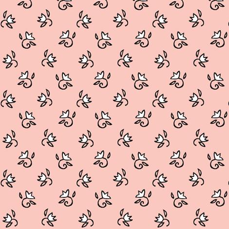 Tiny Girl Flowers fabric by pond_ripple on Spoonflower - custom fabric