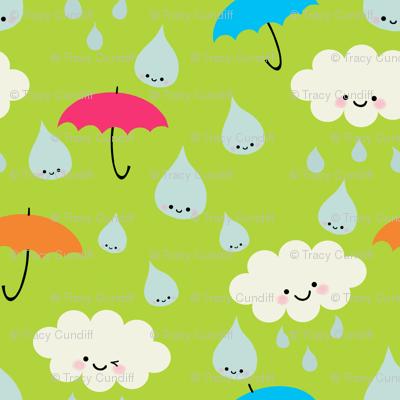 Rain, Rain, DON'T Go Away - green