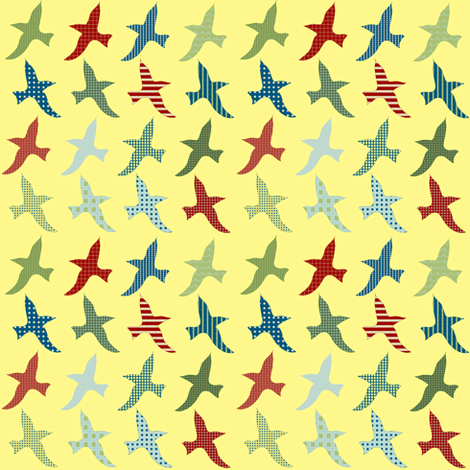 lake birds fabric by krihem on Spoonflower - custom fabric