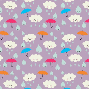 Rain, Rain, DON'T Go Away - Purple