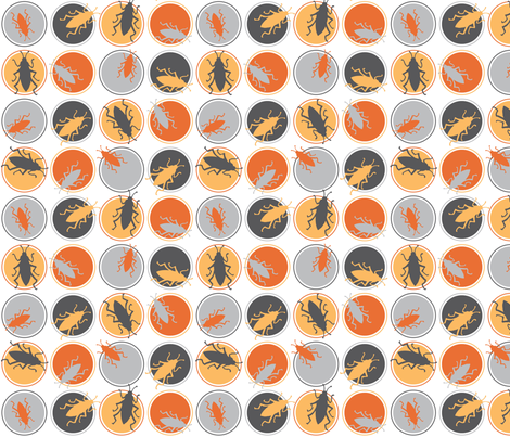 Polka Dot Beetles fabric by audreyclayton on Spoonflower - custom fabric