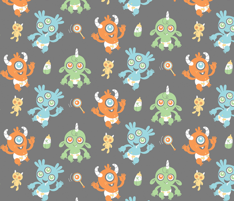 Monster Babies fabric by jordan_elise on Spoonflower - custom fabric