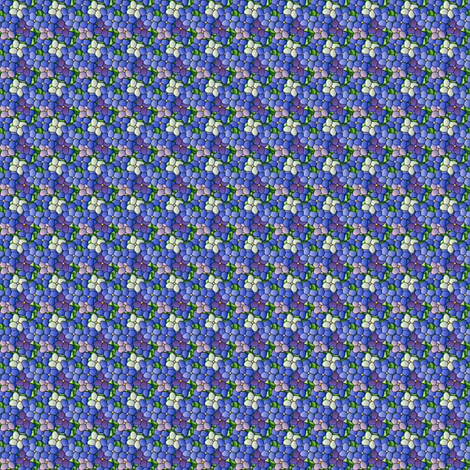 ©2011 hydrangea bouquet - microprint fabric by glimmericks on Spoonflower - custom fabric