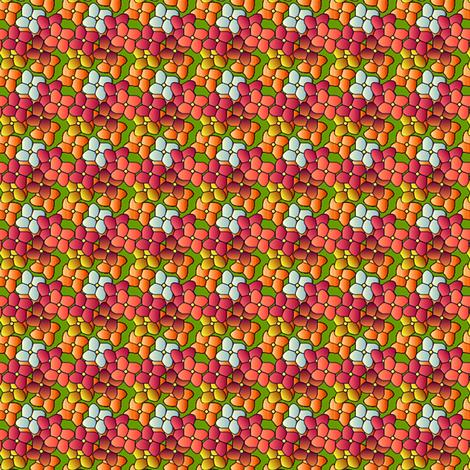 ©2011 Coral Frost Hydrangeas fabric by glimmericks on Spoonflower - custom fabric
