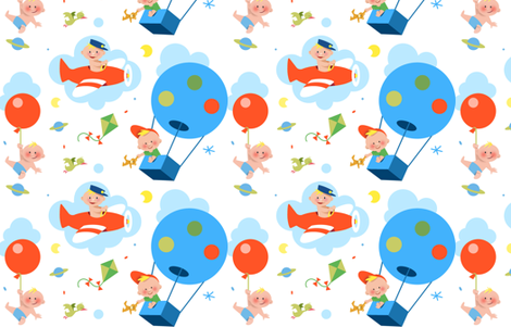 baby_in_the_sky fabric by jakima on Spoonflower - custom fabric