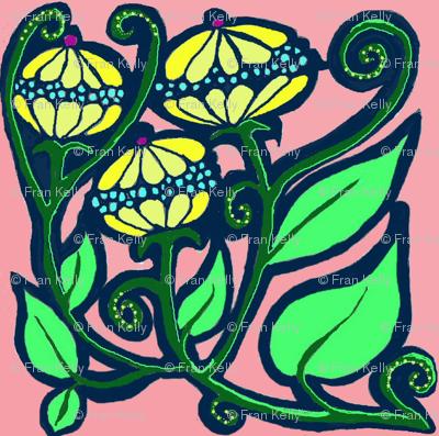 Fantasy Yellow Flowers