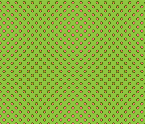 pois_fond_vert_1 fabric by nadja_petremand on Spoonflower - custom fabric