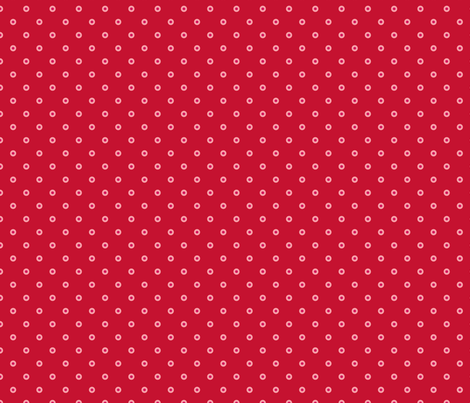 pois_fond_rouge_2 fabric by nadja_petremand on Spoonflower - custom fabric