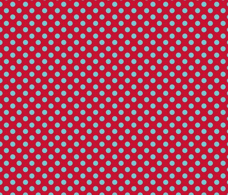 pois_fond_bleu_1 fabric by nadja_petremand on Spoonflower - custom fabric