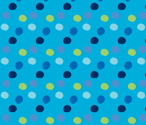 pois_fond_turquoise fabric by nadja_petremand on Spoonflower - custom fabric