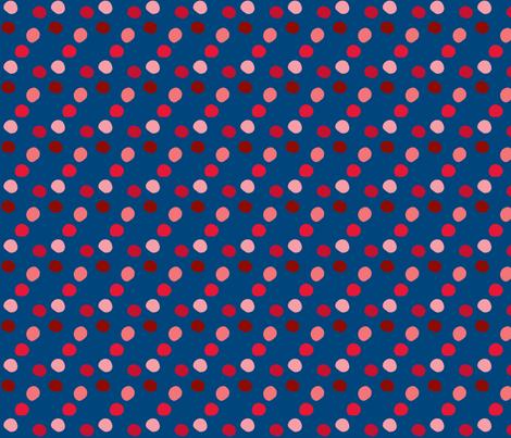 pois_rouge_fond_marine fabric by nadja_petremand on Spoonflower - custom fabric