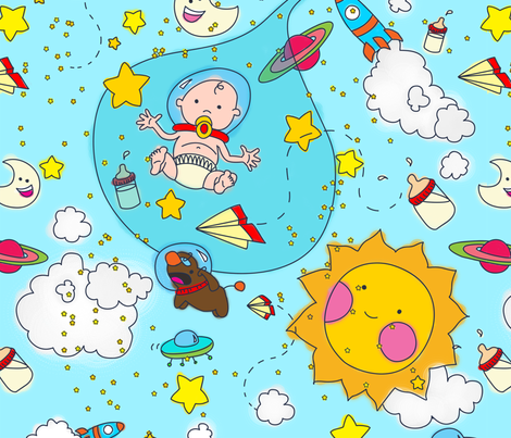 BABY FROM THE STARS fabric by degrajales on Spoonflower - custom fabric