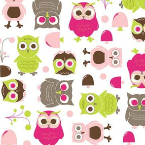 Owls, in Pink