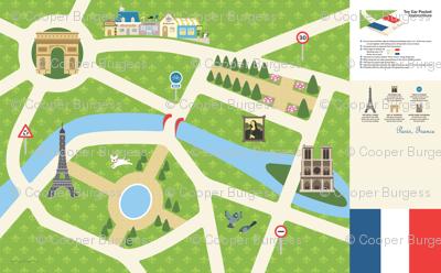 "Map of Paris - 58"" Cotton Twill playmat"