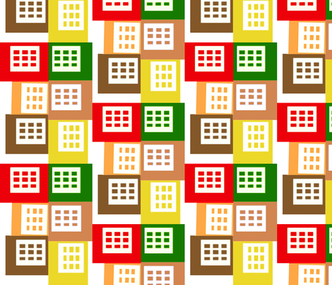 Grid Patchwork fabric by boris_thumbkin on Spoonflower - custom fabric