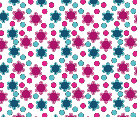 stylized flowers 5 fabric by suziedesign on Spoonflower - custom fabric