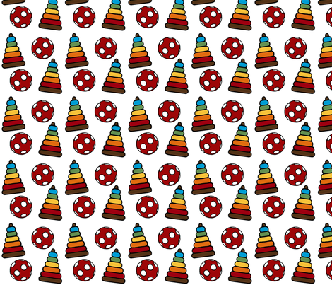 Stacker and Bouncy Ball fabric by mayabella on Spoonflower - custom fabric