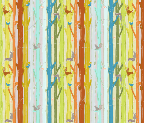 SQUIRRATHALON fabric by trcreative on Spoonflower - custom fabric