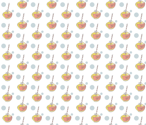 A Day at the Beach (Apple Juice) fabric by nightgarden on Spoonflower - custom fabric