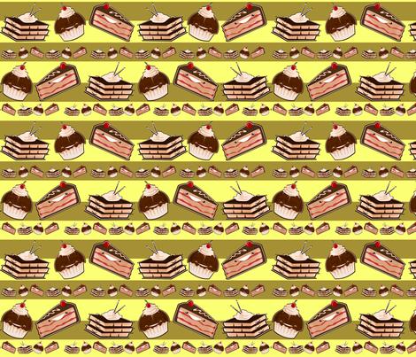 gateaux en lignes fabric by kobaitchi on Spoonflower - custom fabric